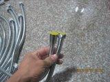 Boyau de douche de blocage de double de l'acier inoxydable 304, EPDM, noix tournante, longueur de 1.5m, fini passé au bichromate de potasse, certificat d'Acs