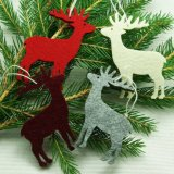 Indoor Decoration Christmas Ornament Felt Ball Xmas Felt Ornaments