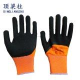 Shell des Polyester-13G beschichtete Latexschaum-Arbeits-Handschuhe in China