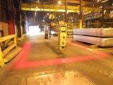 Ligne rouge d'un palan d'une grue montée pont roulant de Lumière de sécurité d'éclairage