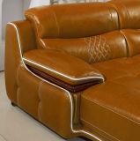 Forme de l Salle de séjour Meubles canapé en cuir véritable (A15-2)