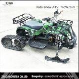 Los niños Zyao moto de nieve de acero de dos vías, las pistas de esquí de goma de la nieve moto Scooter Electric ATV