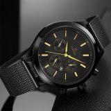 Formmens-Uhren imprägniern Edelstahl-Mann-Quarz-Sport-Uhr