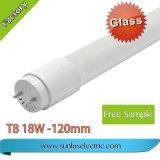2years lampada fluorescente della garanzia 1.2m 18W Galss T8 LED