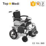 Sedia a rotelle elettrica di sanità del prodotto dell'unità di elaborazione di potere pieghevole medico della rotella