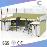 Melamine Partition (CAS-W1852)를 가진 대중적인 Double Workstation Style Office Desk