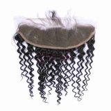Frontal profondo brasiliano del merletto dell'arricciatura 360 dei capelli umani 13*4 della fabbrica dei capelli del laboratorio