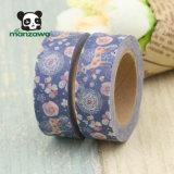 Reticolo blu Washi floreale dei cervi di Sika degli alci di colore di Manzawa di nastro di carta per DIY decorativo