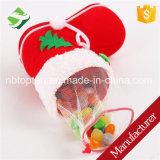 Navidad de la Navidad que se reúne el pequeño bolso del regalo del caramelo de los calcetines rojos de los cargadores del programa inicial para el invierno de los cabritos
