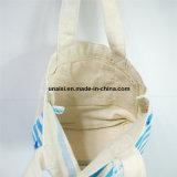 Saco de Tote pesado o mais forte ocasional da bolsa do mantimento da lona para o cliente