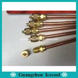 """1/4"""" 117mm de longitud de la válvula de carga/acceso/PIN/Válvula Válvula Válvula de aguja para aire acondicionado o refrigerador"""