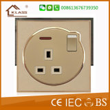 Socket de pared eléctrico del fabricante TV+Tel del interruptor de China