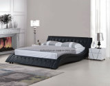 Re fluttuato modulare Size Leather Bed di figura