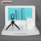 Présentoir acrylique d'appareil-photo de modèle de partie supérieure du comptoir chaude neuve de vente