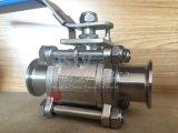 ステンレス鋼は速くクランプ3 3PC球弁をインストールする
