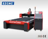 Machine de découpage en aluminium de laser de fibre Quanlity de vis à billes élevée de vitesse d'Ezletter (GL1530)