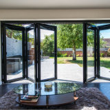 Fuerte exterior acristalamiento doble salto térmico de Bi de aluminio puerta plegable