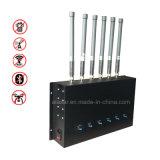 6 GSM van de Macht van banden Binnen Regelbare Mobiele, WCDMA, 4G Lte, 2.4G WiFi, GPS, 5.8g de Stoorzender van het Signaal