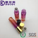 bouteilles en verre de rouleau d'atomiseur en verre de parfum de la course 5ml mini avec la bille en métal
