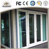 Portes en verre en plastique de tissu pour rideaux de mode d'usine de la fibre de verre bon marché neuve UPVC/PVC des prix avec le gril à l'intérieur