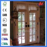 Двойная дверь рассекателя комнаты дверей французских дверей Louvered