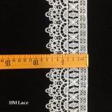 cadre de couture brodé hydrosoluble Hmhb609 de lacet d'habillement de garniture de lacet de couleur de café de lumière blanche de 8cm