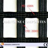 maille/réseau/réseau enduits Geogrid de fibre de verre du bitume 200kn pour le renfort de trottoir