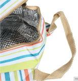 Sacchetto isolato nuovo dispositivo di raffreddamento di vendita caldo di cuoio di picnic del pranzo di modo di disegno di alta qualità del PVC Leat dell'unità di elaborazione del poliestere del cotone della tela di canapa della iuta di nylon non tessuta del Jean