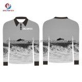 A pesca de sublimação personalizado Camisas de Manga Longa Pesca Quick Dry Jersey