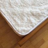 極度の柔らかいプラシ天の羊毛の防水マットレスの保護装置