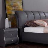 نمو [دووبل بد] تصميم حديثة غرفة نوم أثاث لازم جلد سرير ([فب3079])