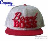 Surtidor marrón de encargo del sombrero del casquillo del Snapback de la insignia del color
