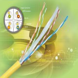 Telekommunikation Cu/CCA der Qualitäts-CAT6 24AWG 4 Paare UTP CAT6 LAN-Kabel-