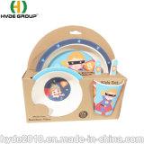 Hefei nuevos productos biodegradables componible lindo Colorido papel de fibra de bambú Set bebé Kid