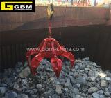 La cáscara de naranja hidráulica eléctrica Grab (Pesado chatarra de acero, piedra, basura)