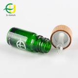 5 ml 10ml vert bouteille en verre avec compte-gouttes de bambou