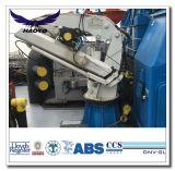 Grúa plegable hidráulica del acceso de la cubierta de la nave del auge