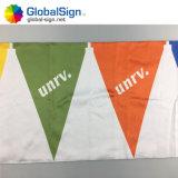 Dreieck-Polyester-Markierungsfahne, die Minizeichenkette-Markierungsfahne mit dem Kopfe stößt