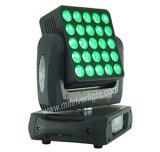 25PCS 매트릭스 곁눈 가리개 크리 사람 RGBW LED 이동하는 맨 위 빛