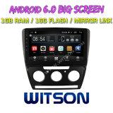 "Witson gran pantalla de 10,2"" de Android 6.0 alquiler de DVD para Volkswagen Skoda Octavia (MANUAL A/C) 2010-2014"