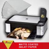 Papier lustré/mat de photo de collant, papier auto-adhésif de photo de jet d'encre de papier de collant