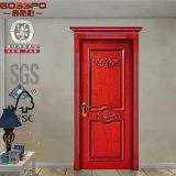 Portes intérieures en bois sculpté en bois antique pour les maisons (GSP2-060)