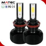 color dual 9006 L5 del faro H4 H13 9005 del coche LED de la viga de 2PCS 60W 6000lm Hi/Lo Fanless