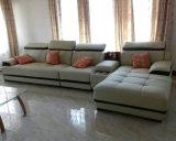 Haute qualité Forme de l canapé en cuir véritable pour mobilier de maison (957)