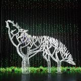軽い珊瑚または木またはオオカミの第2モチーフは休日および党装飾のために防水する