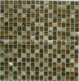 Feuille de verre plein Pierre motif carré mosaïque tuile pour la Cuisine Balcon Design
