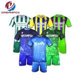 Custom Sportswear camisas de futebol a sublimação Mens a aplicar Soccer Jersey