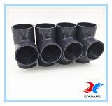 T uguale del PVC Pn16 con materiale industriale (grey scuro)