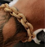 LuxuxBling kundenspezifisches Diamant-Armband Mjcb008 Mens-Hip Hop-CZ