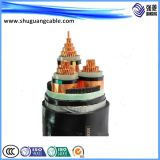Os Multi-Núcleos 26/35kv XLPE isolaram o cabo distribuidor de corrente blindado fino Sheathed PVC de fio de aço